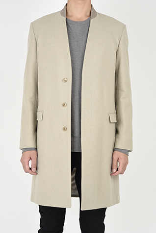 COLLARLESS CHESTER COAT