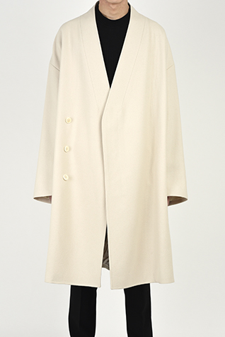 COLLARLESS BIG CHESTER COAT