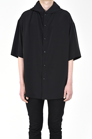 SHORT SLEEVE HOODED BIG SHIRT